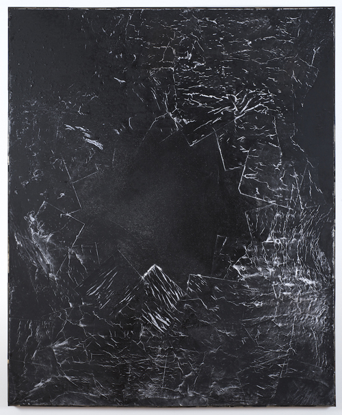 in Pictures for Brenna Youngblood at Tilton Gallery. Image for Brenna Youngblood, Measure of Man (Black Star), 2014, Mixed media on canvas, 72 ½ x 60 ½ inches. Image courtesy the artist and Tilton Gallery, NY.