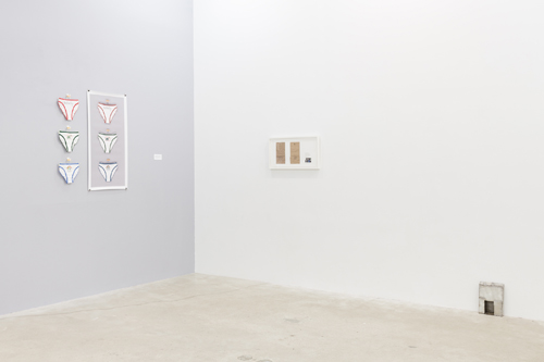 in Pictures for 'Poor Working Conditions' at Martos Gallery. Image for Installation View of 'Poor Working Conditions' at Martos Gallery, with works by Zoe Sheehan Saldana and Kate Levant. Courtesy of the artists and Zach Feuer Gallery. Photo by Charles Benton.