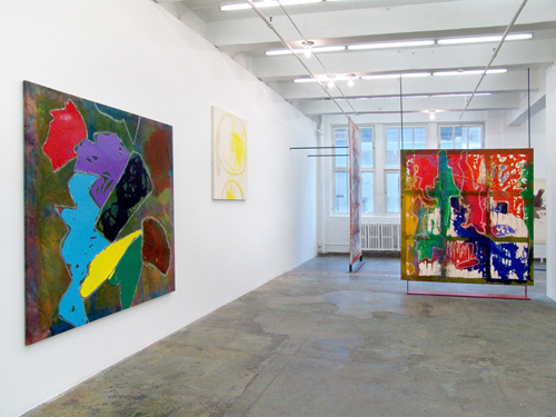 "Month In Pictures Dona Nelson at Thomas Erben Gallery. Image for Dona Nelson, ""Phigor"" 2014, installation view. Photo by Andreas Vesterlund, courtesy the artist and Thomas Erben Gallery, New York."