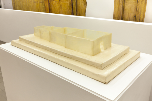in Pictures for Heidi Bucher at Swiss Institute / CONTEMPORARY ART. Image for Heidi Bucher, Untitled (Casein glue house), Ca. 1976-1983, Casein glue, watercolor on foam, Dimensions approx. 128 x 62 x 22 cm (50 ½ x 24 ½ x 8 ¾ in). Courtesy Freymond-Guth Fine Arts, Zürich.