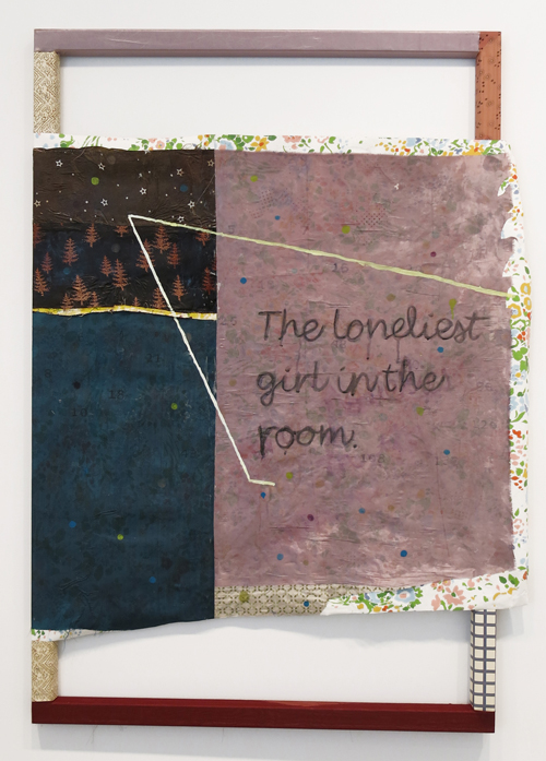 in Pictures for Tameka Norris at Lombard Freid Gallery. Image for Tameka Norris, The Loneliest Girl in the Room, 2014, acrylic and oil on fabric and wallpaper. Courtesy of the artist and Lombard Freid Gallery, New York.
