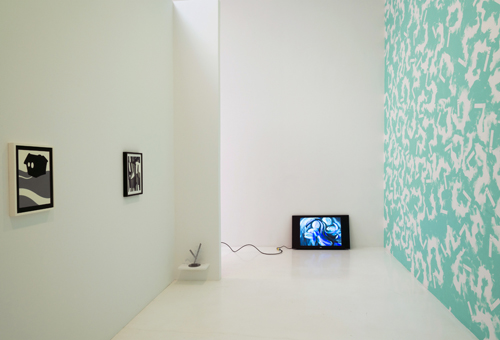 in Pictures for 'Particular Pictures' at The Suzanne Geiss Company. Image for Installation view of 'Particular Pictures' at The Suzanne Geiss Company, with work by Laeh Glenn, Peter Harkawik, Cheryl Donegan, and MacGregor Harp. Photo Adam Reich. Courtesy The Suzanne Geiss Company.