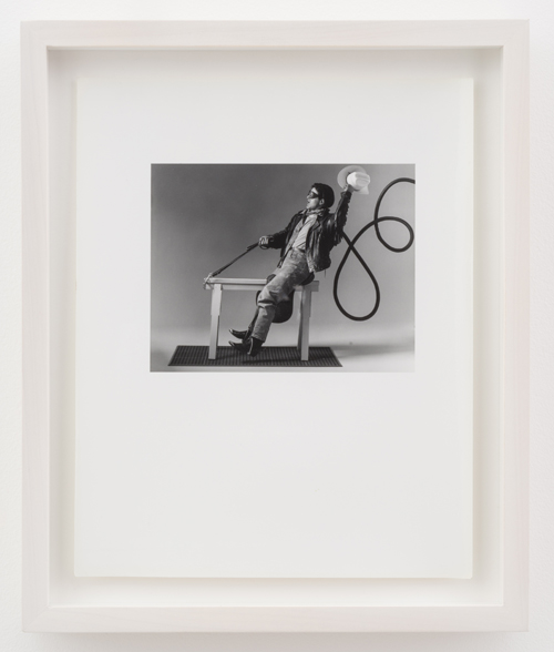 in Pictures for 'Particular Pictures' at The Suzanne Geiss Company. Image for Robert Belott, Parisienne Cowboy, 1988, Photographic print, 10 x 8 inches (25.4 x 20.3 cm). Photo Adam Reich. Courtesy The Suzanne Geiss Company.