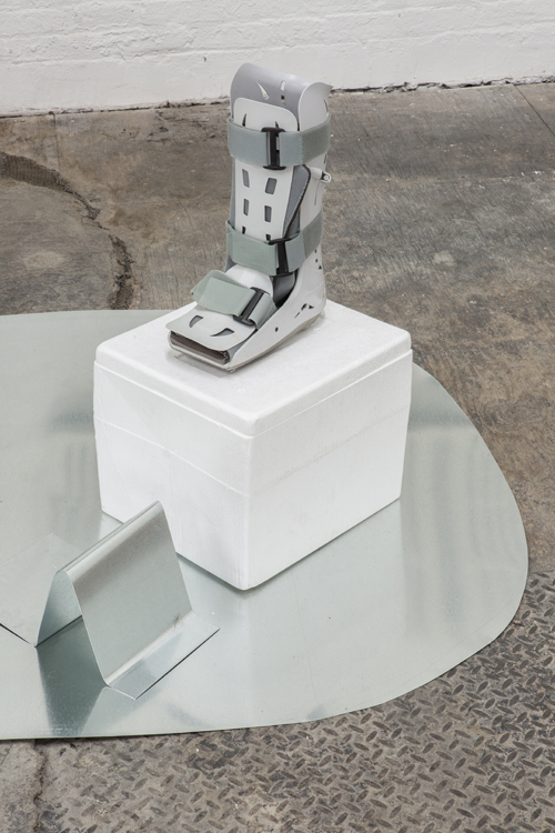 in Pictures for PASTE at Signal. Image for Hayden Dunham, Detail of Sublimation Station, 2014, Mixed-media installation with porcelain, concrete, glass, medical equipment, steel, foam, Dimensions Variable, Site Specific. Photo by Dan McMahon. Courtesy of Signal.