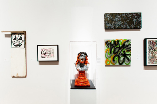 in Pictures for City as Canvas at The Museum of the City of New York. Image for Display of graffiti artist Keith Haring 's work, as well as the work of Haring's collaborator LA II. Image by Liz Ligon. Courtesy of the Museum of the City of New York.