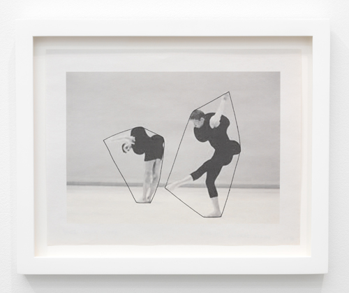 in Pictures for Nancy Brooks Brody at Andrew Kreps Gallery. Image for Nancy Brooks Brody, Merce Drawing, 2013, Ink on newsprint, Paper: 8 1/2 x 11 in (21.6 x 27.9 cm); Framed:11 x 13 3/8 in (27.9 x 34 cm). Courtesy of the artist and Andrew Kreps Gallery, New York.