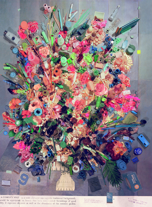 Month In Pictures Sara Cwynar at Foxy Production. Image for Sara Cwynar, Contemporary Floral Arrangement 5 (A Compact Mass), 2014, Chromogenic print mounted on Dibond, 60 x 44 in. Courtesy of the artist and Foxy Production, New York.