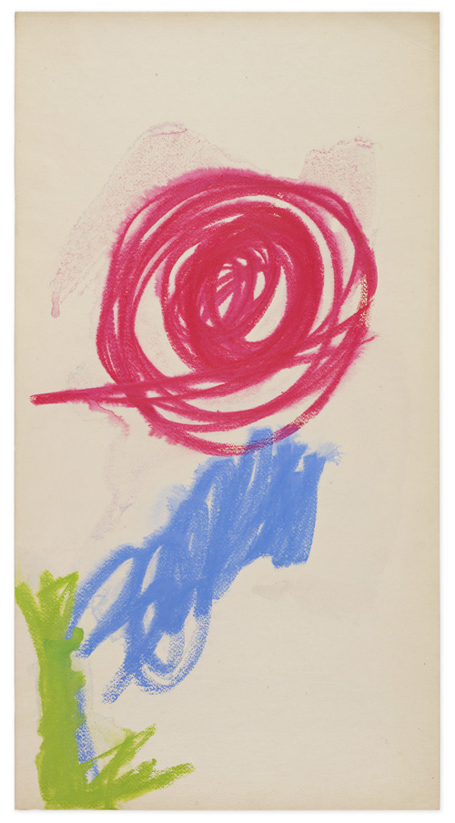 in Pictures for Mira Schendel at Hauser & Wirth. Image for Mira Schendel, Untitled, 1960s, Ink, pastel crayon, watercolor on scratched paper, 50.8 x 26.9 cm / 20 x 10 5/8 in. Photo: Genevieve Hanson. Courtesy Mira Schendel Estate and Hauser & Wirth