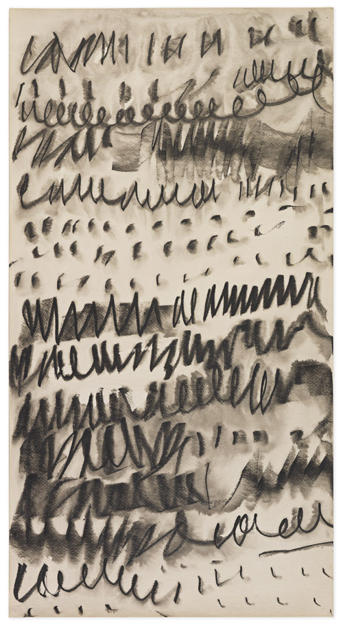 in Pictures for Mira Schendel at Hauser & Wirth. Image for Mira Schendel, Untitled, 1960s, Ink and water on paper, 50.8 x 26.9 cm / 20 x 10 5/8 in. Photo: Genevieve Hanson. Courtesy Mira Schendel Estate and Hauser & Wirth