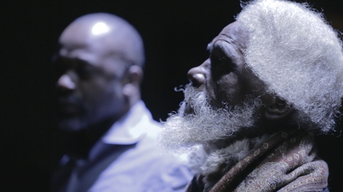 in Pictures for 'When the Stars Begin to Fall: Imagination and the American South' at The Studio Museum in Harlem. Image for Theaster Gates, Billy Sings Amazing Grace (video still), 2013–14, Video, color, sound, TRT 00:13:00. Courtesy the artist
