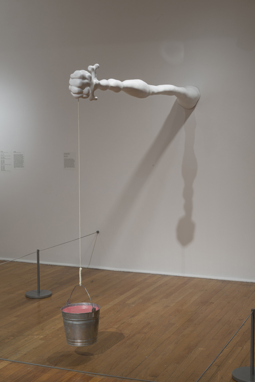 in Pictures for 'When the Stars Begin to Fall: Imagination and the American South' at The Studio Museum in Harlem. Image for Trenton Doyle Hancock, Vegan Arm, 2006, Urethane, Pepto Bismol, steel, string 84 × 108 × 9 in. Edition 2 of 3. Courtesy James Gray. Photo: Adam Reich