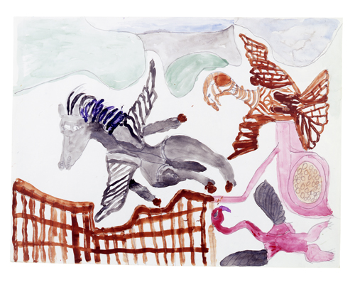 in Pictures for 'When the Stars Begin to Fall: Imagination and the American South' at The Studio Museum in Harlem. Image for Georgia Speller, Untitled, 1985, Paint and pencil on paper, 18 7/10 × 23 7/10 in. The William Arnett Collection of the Souls Grown Deep Foundation