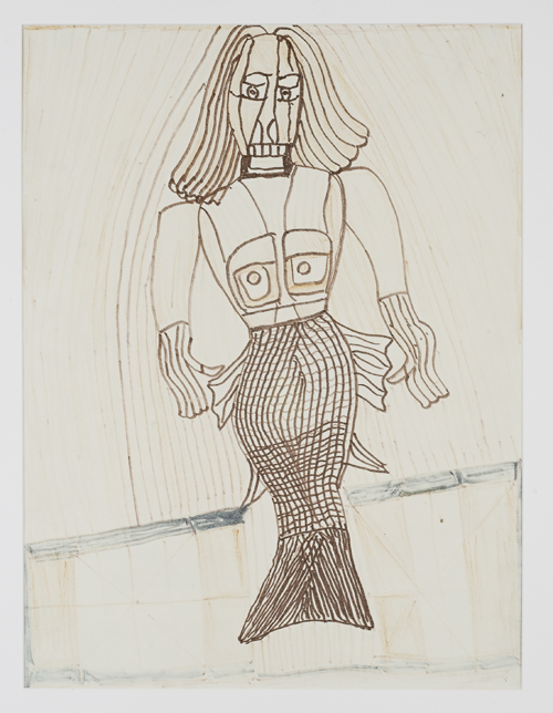 in Pictures for 'When the Stars Begin to Fall: Imagination and the American South' at The Studio Museum in Harlem. Image for Henry Speller, Mermaid, c. mid-1980s, Pencil, crayon and marker on paper 23 × 17 in. Courtesy Ronald and June Shelp. Photo: Marc Bernier