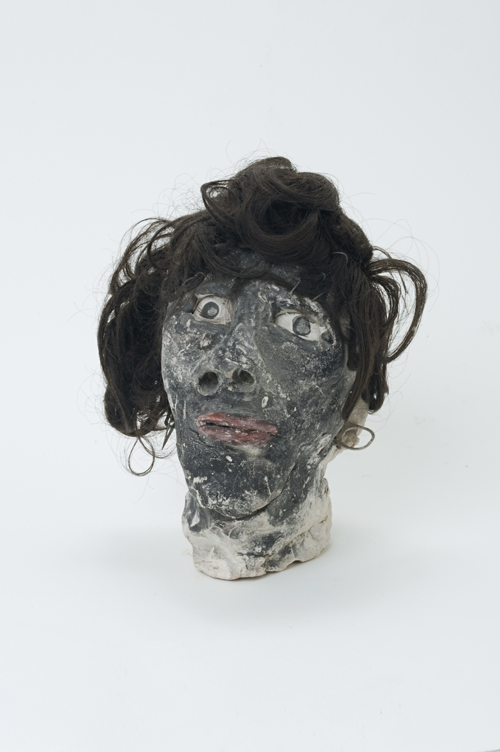 "in Pictures for 'When the Stars Begin to Fall: Imagination and the American South' at The Studio Museum in Harlem. Image for James ""Son"" Thomas, Black Woman, c. 1986, Unfired clay with artificial hair, 8 1⁄2 × 5 1⁄2 × 6 in. Courtesy Ronald and June Shelp Photo: Marc Bernier"