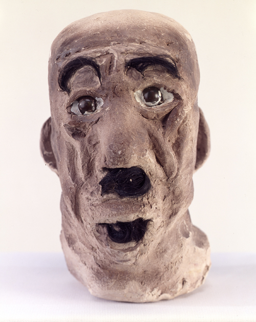 "in Pictures for 'When the Stars Begin to Fall: Imagination and the American South' at The Studio Museum in Harlem. Image for James ""Son"" Thomas, Untitled Self-Portrait, 1987, Unfired clay, artificial hair, glass marbles and paint, 9 × 5 × 8 in. The William Arnett Collection of the Souls Grown Deep Foundation"