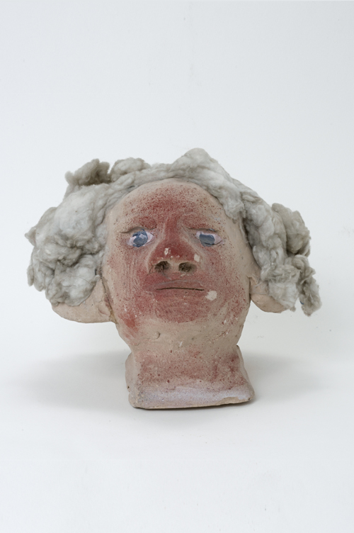 "in Pictures for 'When the Stars Begin to Fall: Imagination and the American South' at The Studio Museum in Harlem. Image for James ""Son"" Thomas, George Washington, c. 1986, Unfired clay with artificial hair, 7 1⁄2 × 9 1⁄2 × 7 1⁄2 in. Courtesy Ronald and June Shelp. Photo: Marc Bernier"