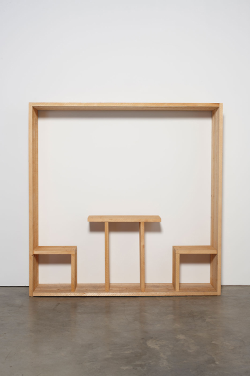 in Pictures for Michelangelo Pistoletto at Luhring Augustine Bushwick. Image for Michelangelo Pistoletto, Quadro da pranzo (Lunch Painting), 1965, Wood, 78 3/4 x 78 3/4 x 19 5/8 inches, (200 x 200 x 50 cm). Courtesy of the artist, Luhring Augustine, New York, and Galleria Christian Stein, Milan.
