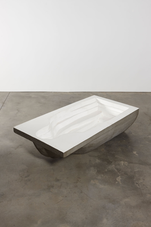 in Pictures for Michelangelo Pistoletto at Luhring Augustine Bushwick. Image for Michelangelo Pistoletto, Bagno (Bath), 1965 - 1966, Fiberglass, 23 5/8 x 78 3/4 x 39 3/8 inches (60 x 200 x 100 cm). Courtesy of the artist, Luhring Augustine, New York, and Galleria Christian Stein, Milan.