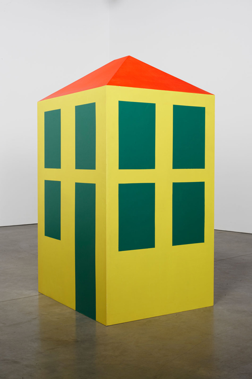 in Pictures for Michelangelo Pistoletto at Luhring Augustine Bushwick. Image for Michelangelo Pistoletto, Casa a misura d'uomo (House on a Human Scale), 1965 - 1966, Wood and enamel, 78 3/4 x 39 3/8 x 47 1/4 inches (200 x 100 x 120 cm). Courtesy of the artist, Luhring Augustine, New York, and Galleria Christian Stein, Milan.
