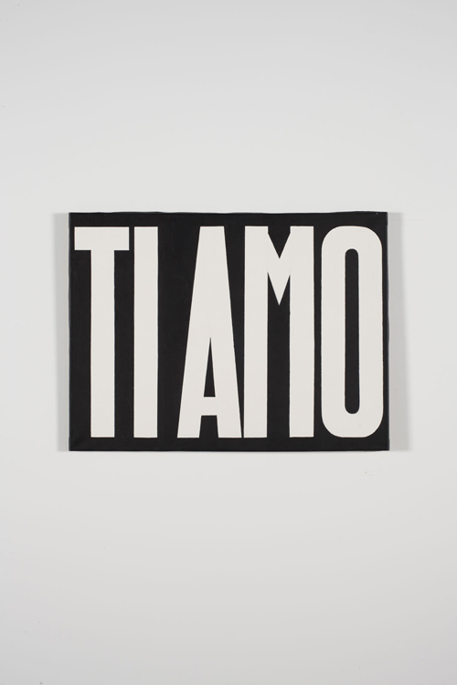 in Pictures for Michelangelo Pistoletto at Luhring Augustine Bushwick. Image for Michelangelo Pistoletto, Ti amo (I Love You), 1965 - 1966, Acrylic on canvas, 23 5/8 x 27 1/2 inches (60 x 70 cm). Courtesy of the artist, Luhring Augustine, New York, and Galleria Christian Stein, Milan.