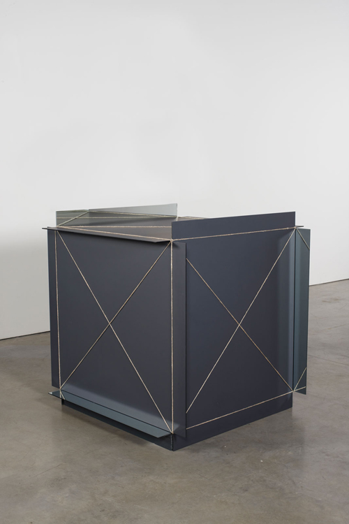 in Pictures for Michelangelo Pistoletto at Luhring Augustine Bushwick. Image for Michelangelo Pistoletto, Metrocubo d'infinito (Cubic Meter of Infinity), 1966, Mirror and rope, 47 1/4 x 47 1/4 x 47 1/4 inches (120 x 120 x 120 cm). Courtesy of the artist, Luhring Augustine, New York, and Galleria Christian Stein, Milan.