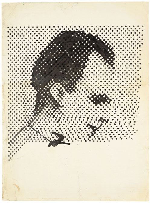 in Pictures for Sigmar Polke at MoMA. Image for Sigmar Polke, German, 1941–2010, Raster Drawing (Portrait of Lee Harvey Oswald) (Rasterzeichnung (Porträt Lee Harvey Oswald)), 1963, Poster paint and pencil on paper, 37 5/16 × 27 1/2″ (94.8 × 69.8 cm). Private Collection. Photo: Wolfgang Morell, Bonn © 2014 Estate of Sigmar Polke/ Artists Rights Society (ARS), New York / VG Bild-Kunst, Bonn