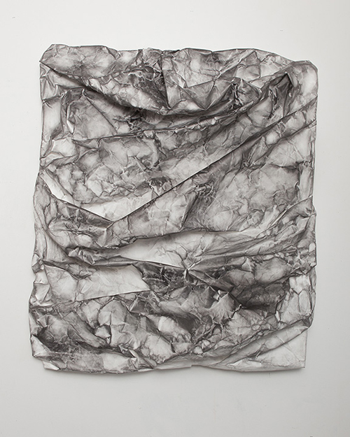 in Pictures for Lauren Seiden at Denny Gallery. Image for © Lauren Seiden, Raw Wrap 11, 2014. Graphite on paper. 49 x 42 x 8.5 in. Courtesy the artist and Denny Gallery, NYC.