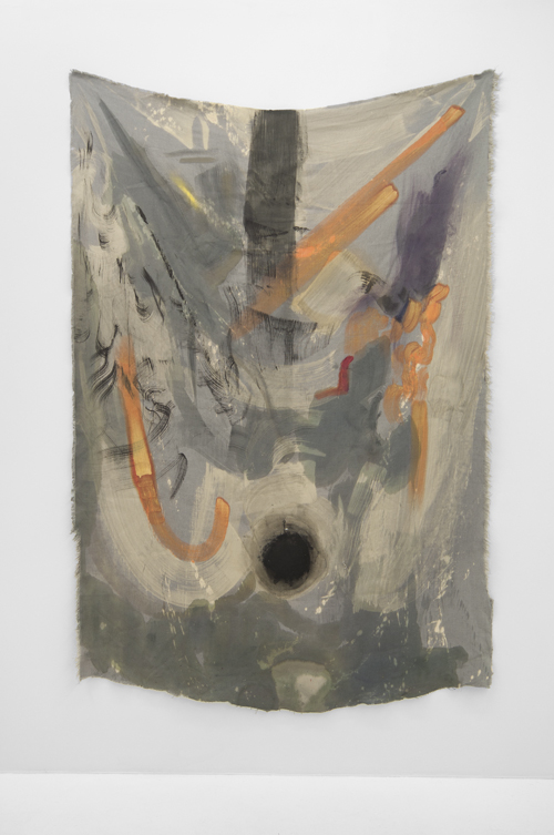"""in Pictures for Kristan Kennedy at Soloway. Image for Kristan Kennedy, S.F.T.T.M.E., 2014, Sumi, Dye, Acrylic on Linen, W 51"""" x H 75"""". Courtesy the artist and Soloway."""