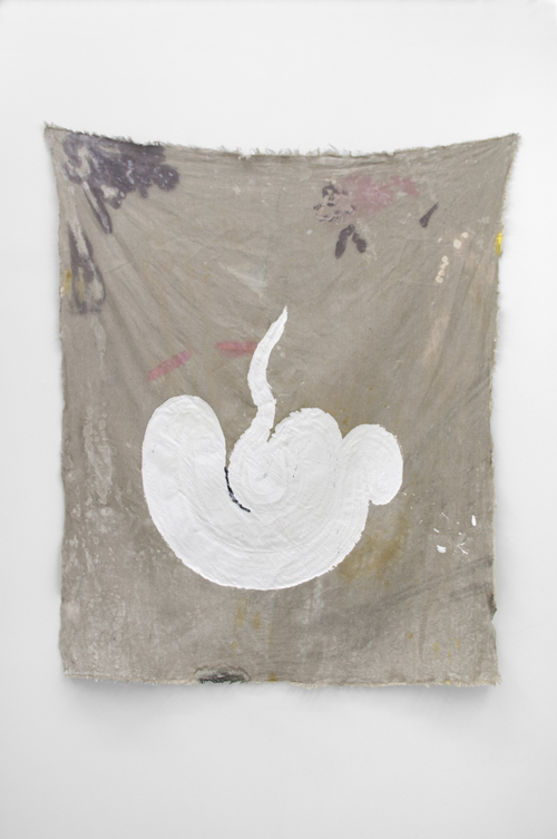 """in Pictures for Kristan Kennedy at Soloway. Image for Kristan Kennedy, G.H.S.T.H.R., 2014, Gesso, Dye on Linen, W 42"""" x H 54"""". Courtesy the artist and Soloway."""