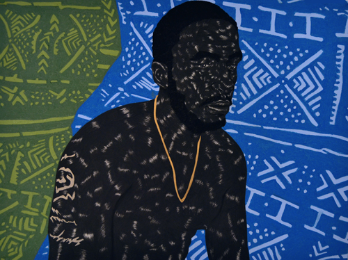 in Pictures for Toyin Odutola at Jack Shainman Gallery. Image for Toyin Odutola, LTS X, 2014, charcoal, pastel, and marker on paper 30 x 40 inches (34 3/4 x 44 3/4 x 1 1/2 inches framed), signed, titled, and dated on verso. © Toyin Odutola. Courtesy of the artist and Jack Shainman Gallery, New York.