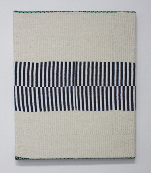 "in Pictures for Samantha Bittman at Greenpoint Terminal Gallery. Image for Samantha Bittman, Untitled, 2014, Handwoven textile (cotton), 18"" x 15"". Courtesy Greenpoint Terminal Gallery."