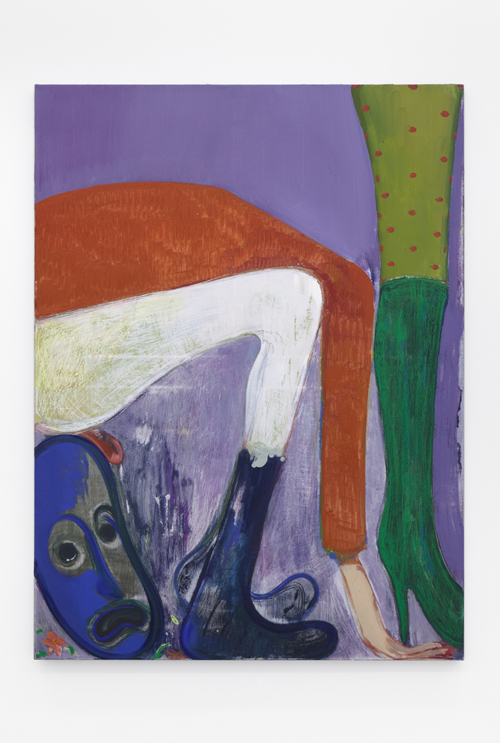 "in Pictures for Sanya Kantarovsky at Casey Kaplan. Image for Sanya Kantarovsky, L'appétit, 2014, Oil, watercolor, pastel, oilstick on canvas, 47 x 35"" / 119.4 x 88.9cm. Photo: Dawn Blackman. Courtesy of the artist and Casey Kaplan, New York."