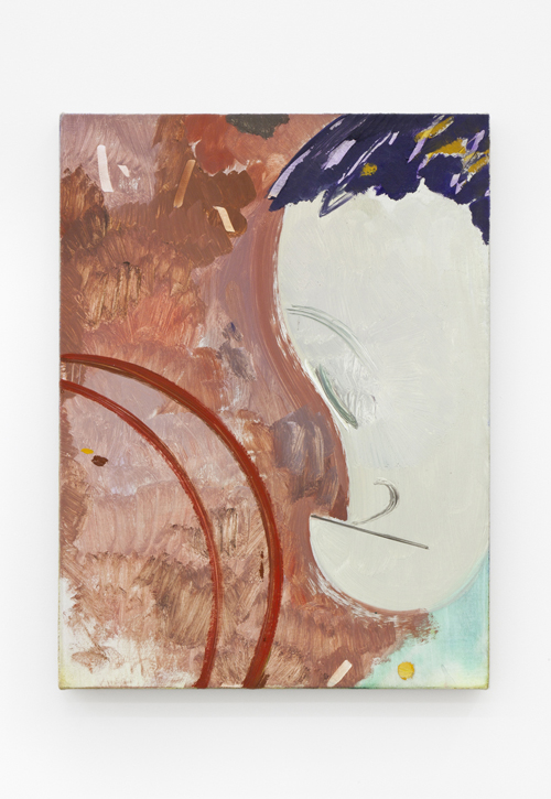 "in Pictures for Sanya Kantarovsky at Casey Kaplan. Image for Sanya Kantarovsky, In there for me, 2014, Oil, watercolor, pastel and charcoal on linen, 16 x 12"" / 40.6 x 30.5cm. Photo: Dawn Blackman. Courtesy of the artist and Casey Kaplan, New York."