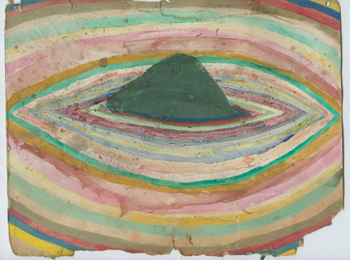 in Pictures for 'ENERGY THAT IS ALL AROUND' at Grey Art Gallery at NYU. Image for Alicia McCarthy Untitled, 1994, Gouache on paper, baked, 11 x 18 3/8 in. Collection of Ruby Neri Image courtesy the artist.