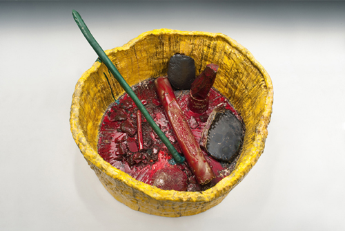 in Pictures for Sterling Ruby at Hauser & Wirth. Image for Sterling Ruby, BASIN THEOLOGY/2C-T-XX, 2013, Ceramic, 61 x 132.7 x 111.1 cm / 24 x 52 1/4 x 43 3/4 in. © Sterling Ruby. Courtesy the artist and Hauser & Wirth. Photo: Robert Wedemeyer.