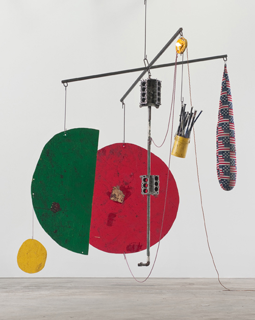 in Pictures for Sterling Ruby at Hauser & Wirth. Image for Sterling Ruby, SCALE / BATS, BLOCKS, DROP (4837), 2014, Wood, steel, fabric and fiberfill, paint, and mixed media, 459.7 x 454.7 x 396.2 cm / 181 x 179 x 156 in. © Sterling Ruby. Courtesy the artist and Hauser & Wirth. Photo: Robert Wedemeyer.