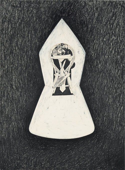 in Pictures for Jay DeFeo at Mitchell-Innes & Nash. Image for Jay DeFeo, Seven Pillars of Wisdom No. 10, 1989, Oil pastel and charcoal with photocopy on paper, 30 by 22 in. (76.2 by 55.9 cm). Courtesy of Mitchell-Innes & Nash, NY. All images © 2014 The Jay DeFeo Trust/Artists Rights Society (ARS), New York.