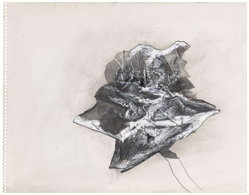 in Pictures for Jay DeFeo at Mitchell-Innes & Nash. Image for Jay DeFeo, Untitled, 1989, Graphite and oil with collage on paper, 11 by 14 in. (27.9 by 35.6 cm). Courtesy of Mitchell-Innes & Nash, NY. All images © 2014 The Jay DeFeo Trust/Artists Rights Society (ARS), New York.