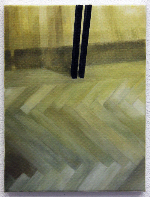 in Pictures for Rainer Spangl and Ezara Spangl at Essex Flowers. Image for Rainer Spangl, Two legs, Oil on canvas, 13.8 x 9.8 in, 2014