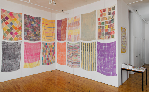 in Pictures for Polly Apfelbaum at Clifton Benevento. Image for Installation view of A Handweaver's Pattern Book, Clifton Benevento, New York, 2014. Courtesy the artist ad Clifton Benevento, New York. Photo credit: Andres Ramirez.
