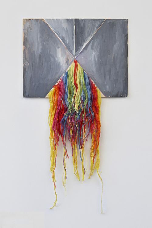 in Pictures for Regina Bogat at Zürcher Studio. Image for Regina Bogat, Threaded Piece 2, 1973, Gouache and threads on paper, 55,8 x 27,9 cm (22 x 11,87 in). Courtesy of Zürcher Studio. Photo: Genevieve Hanson.