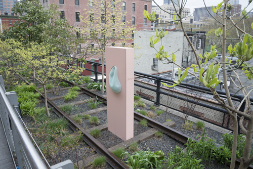 in Pictures for 'Archeo' at The High Line. Image for Antoine Catala, Logo to Me and the Others Breathing, 2014. Part of Archeo, a High Line Commission. On view April 17, 2014 – March 2015 on the High Line, New York. Photo by Timothy Schenck. Courtesy of Friends of the High Line.