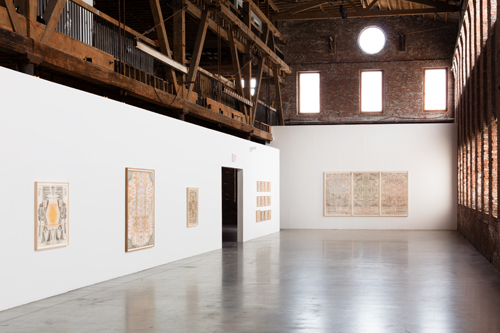in Pictures for Louise Despont at Pioneer Works. Image for Installation view of Louise Despont: 'The Six-Sided Force' at Pioneer Works, 2014. Courtesy of the artist and Pioneer Works.