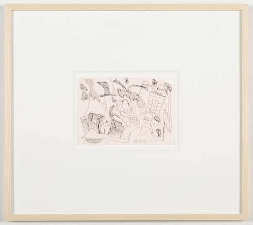 in Pictures for 'Vintage Violence' at Monya Rowe Gallery. Image for Carroll Dunham, Untitled (6/17/00) , 2000, ink on paper, 5.25 by 7.25 inches UF. Courtesy of the artist and Monya Rowe Gallery, New York.