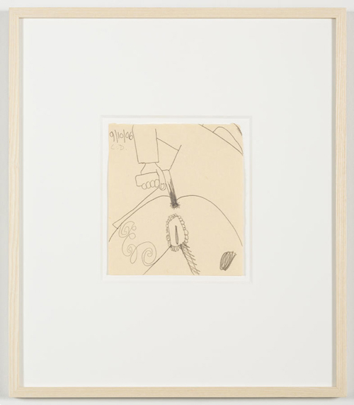 in Pictures for 'Vintage Violence' at Monya Rowe Gallery. Image for Carroll Dunham, Untitled (9/10/06), 2006, pencil on paper, 7.5 by 6.5 inches UF. Courtesy of the artist and Monya Rowe Gallery, New York.