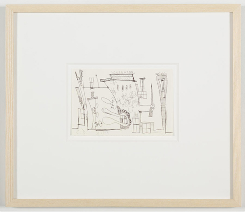 in Pictures for 'Vintage Violence' at Monya Rowe Gallery. Image for Carroll Dunham, Untitled (3/7/98), 1998, ballpoint pen on paper, 4.25 by 6.5 inches UF. Courtesy of the artist and Monya Rowe Gallery, New York.