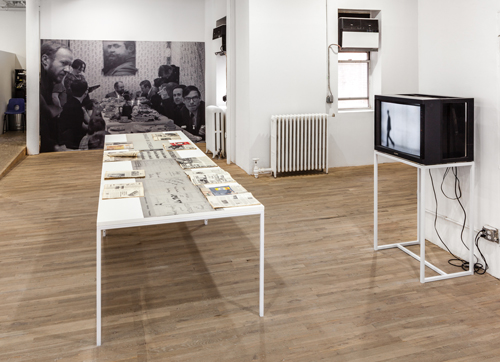 "in Pictures for 'Living with Pop. A Reproduction of Capitalist Realism' at Artists Space. Image for Installation view of the section ""Galerie Schmela (1966)"" from Living with Pop. A Reproduction of Capitalist Realism, Artists Space, 2014. Photo by Daniel Pérez."
