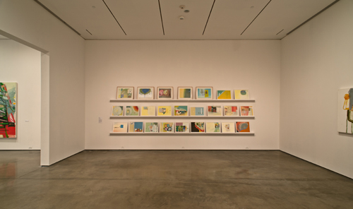 in Pictures for Amy Sillman at CCS Bard / Hessel Museum of Art. Image for Installation view from Amy Sillman: one lump or two, Center for Curatorial Studies, Hessel Museum of Art, Bard College, Annandale-on-Hudson, NY, June 28 – September 21, 2014. Photo: Chris Kendall 2014.