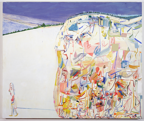in Pictures for Amy Sillman at CCS Bard / Hessel Museum of Art. Image for Amy Sillman, Me & Ugly Mountain, 2003, Oil on canvas, 60 x 72 inches. Collection of Jerome and Ellen Stern. Photo: John Berens.