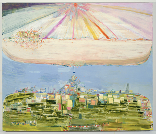 in Pictures for Amy Sillman at CCS Bard / Hessel Museum of Art. Image for Amy Sillman, Unearth, 2003, Oil on canvas, 66 x 78 inches. Collection of Barbara Lee, Cambridge, MA. Photo: John Berens